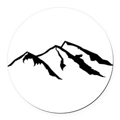 Mountains Round Car Magnet