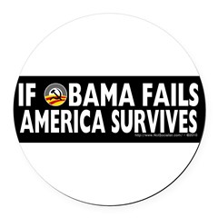 Anti-Obama Obama Fails America Survives Round Car Magnet