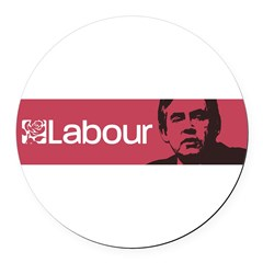 Gordon Brown Labour Party Round Car Magnet