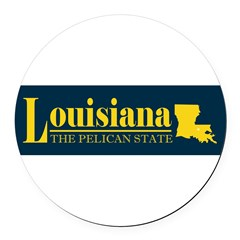 Louisiana Gold Round Car Magnet