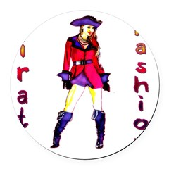 Pirate Fashion Round Car Magnet