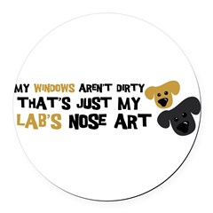 Lab Nose Art Round Car Magnet