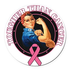 Tougher Than Breast Cancer Ro Round Car Magnet
