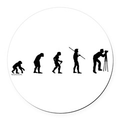 Photog Evolution Round Car Magnet
