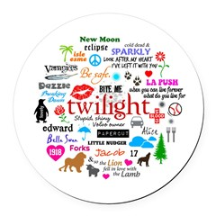 Twilight Memories Round Car Magnet