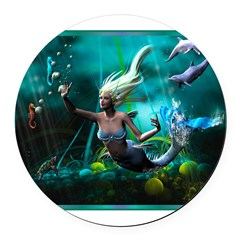 Best Seller Merrow Mermaid Round Car Magnet