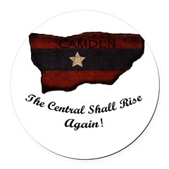 the Central Shall Rise Again Round Car Magnet
