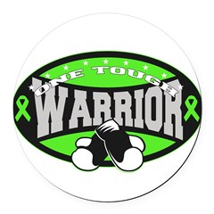 Tough Lymphoma Warrior Round Car Magnet