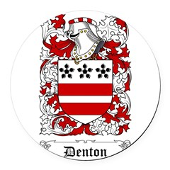 Denton Round Car Magnet