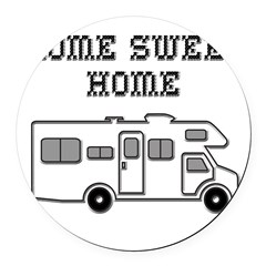 Home Sweet Home Mini Motorhome Round Car Magnet