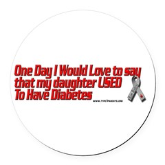 daughter used red Round Car Magnet