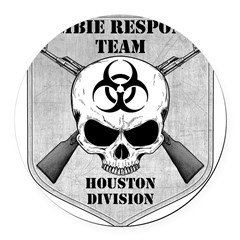 Zombie Response Team: Houston Division Round Car Magnet