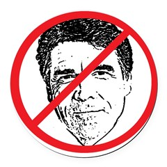 No Rick Perry! Round Car Magnet
