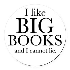 I LIke Big Books Round Car Magnet