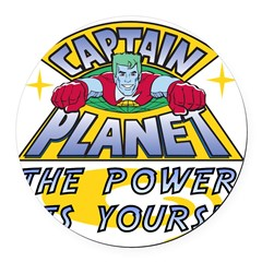 Captain Planet Power Round Car Magnet