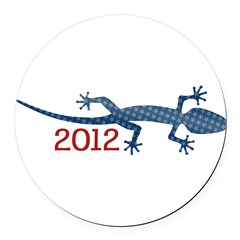 Newt 2012 Drawing Round Car Magnet