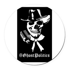 @GhostPolitics Round Car Magnet