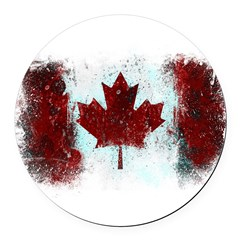 Canadian Graffiti Round Car Magnet