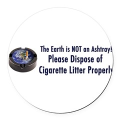 ashtray2 Round Car Magnet