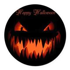 Happy Halloween Pumpkin Round Car Magnet