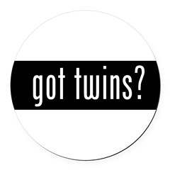 got twins? Round Car Magnet