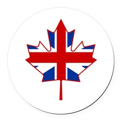 UK Maple Round Car Magnet