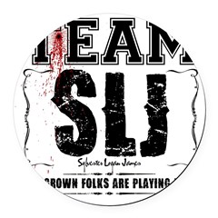 Team SLJ Round Car Magnet