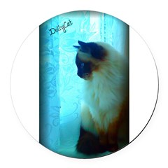 DollyCat Atmosphere - Ragdoll Cat - Round Car Magnet