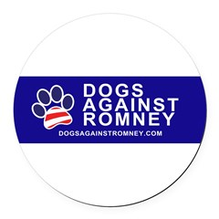 Official Dogs Against Romney Paw Round Car Magnet