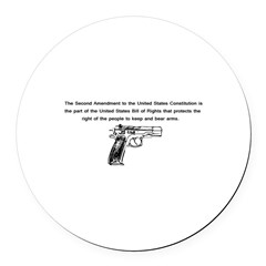 The Second Amendment Round Car Magnet