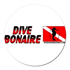 Dive Bonaire (red) Round Car Magnet