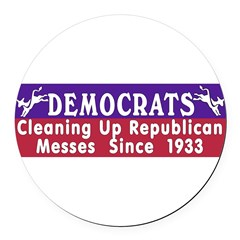 Democrats Round Car Magnet