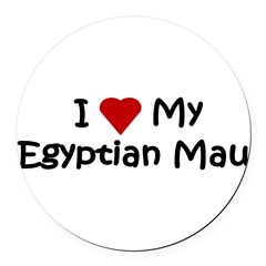 Egyptian Mau Round Car Magnet