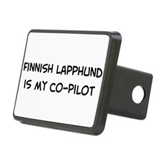 Co-pilot: Finnish Lapphund Rectangular Hitch Cover