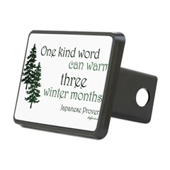 Kind Word Rectangular Hitch Cover