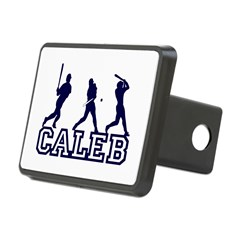 Baseball Caleb Personalized Rectangular Hitch Cover