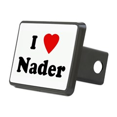 I Love Nader Rectangular Hitch Cover