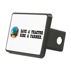 Save a Tractor, Ride a Farmer Rectangular Hitch Cover
