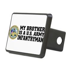 My Brother is a U.S. Army Infantryman Rectangular Hitch Cover