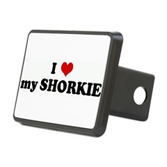 I Love my SHORKIE Rectangular Hitch Cover