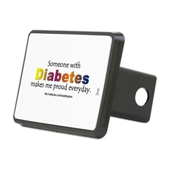 Diabetes Pride Rectangular Hitch Cover