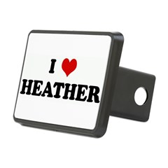 I Love HEATHER Rectangular Hitch Cover