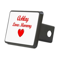 Ashley Loves Mommy Rectangular Hitch Cover