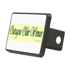 Outragous Older Woman Rectangular Hitch Cover