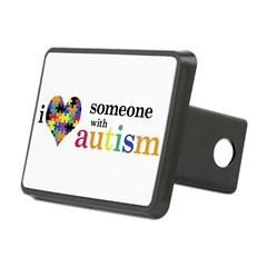 I HEART Someone with Autism - Rectangular Hitch Cover