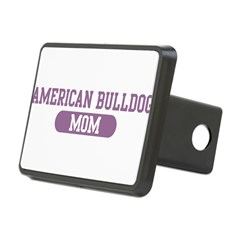 American Bulldog Mom Rectangular Hitch Cover