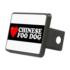 CHINESE FOO DOG Rectangular Hitch Cover