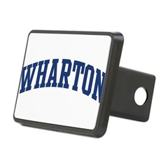 WHARTON design (blue) Rectangular Hitch Cover