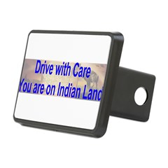 Native American-BS Rectangular Hitch Cover