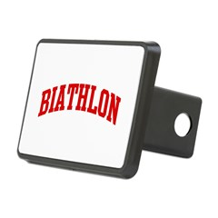 Biathlon (red curve) Rectangular Hitch Cover